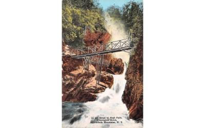 In the gorge at High Falls Adirondack Mountains, New York Postcard