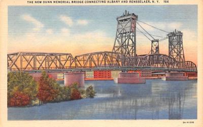 The New Dunn Memorial Bridge Albany, New York Postcard