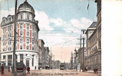 Broadway from State Street Albany, New York Postcard