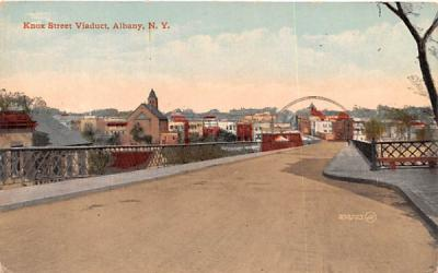 Knox Street Viaduct Albany, New York Postcard