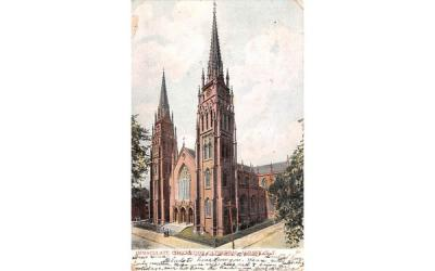 Immaculate Conception Cathedral Albany, New York Postcard