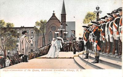 Coronation of the Queen Albany, New York Postcard