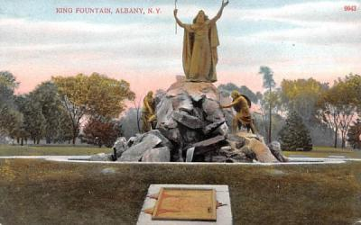King Fountain Albany, New York Postcard