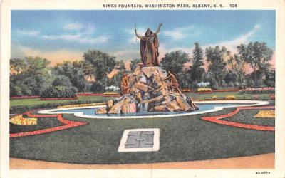 King's Fountain Albany, New York Postcard
