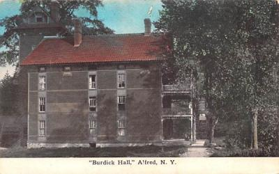 Burdick Hall Alfred, New York Postcard