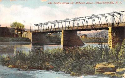 Bridge across the Mohawk River Amsterdam, New York Postcard