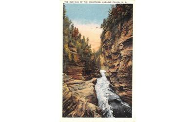 The Old Man of the Mountain Ausable Chasm, New York Postcard