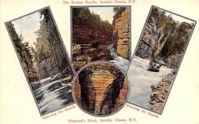 Broken Needle Ausable Chasm, New York Postcard