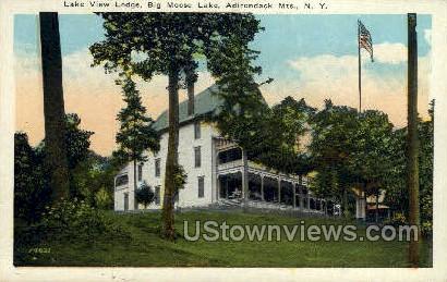 Lake View Lodge - Big Moose Lake, New York NY Postcard