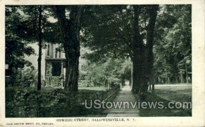 Oswego Street - Baldwinsville, New York NY Postcard
