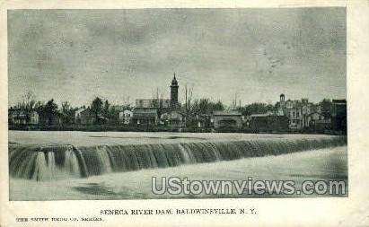 Seneca River Dam - Baldwinsville, New York NY Postcard