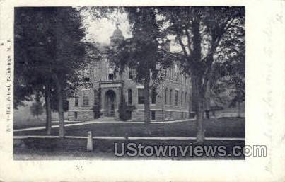 High School - Bainbridge, New York NY Postcard