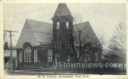 M.E. Church - Bainbridge, New York NY Postcard