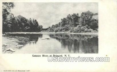 Genesee River - Belmont, New York NY Postcard