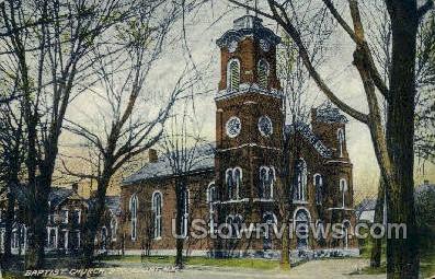 Baptist Church - Brockport, New York NY Postcard