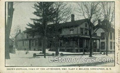 Brown Cottage - Brockport, New York NY Postcard