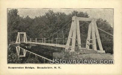 Suspension Bridge - Broadalbin, New York NY Postcard