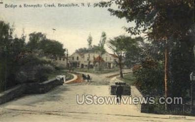 Bridge & Kennyetto Creek - Broadalbin, New York NY Postcard