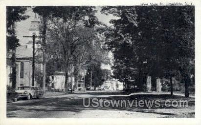 West Main St. - Broadalbin, New York NY Postcard
