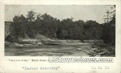 The Little Eddy - Black River, New York NY Postcard