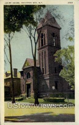 Court House - Ballston Spa, New York NY Postcard