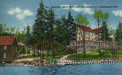 Lakeview Lodge - Big Moose, New York NY Postcard