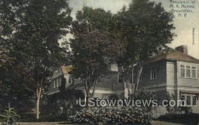 Residence of M.K. Husted - Broadalbin, New York NY Postcard