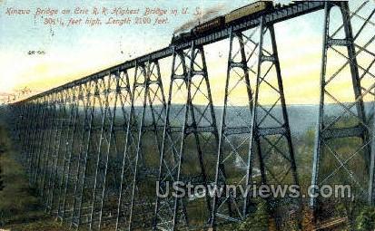 Kinzua Bridge - Misc, New York NY Postcard
