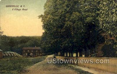 A Village Road - Barryville, New York NY Postcard
