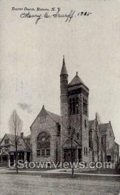 Baptist Church - Batavia, New York NY Postcard
