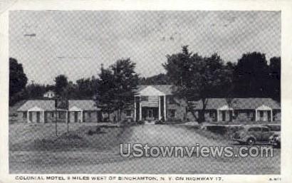 Colonial Motel - Binghamton, New York NY Postcard
