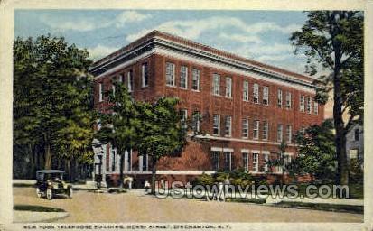 New York Telephone Bldg - Binghamton Postcard