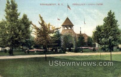 Entrance Casino Park - Binghamton, New York NY Postcard