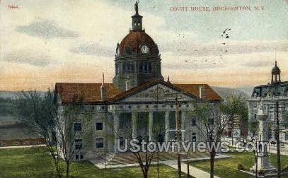 Court House - Binghamton, New York NY Postcard