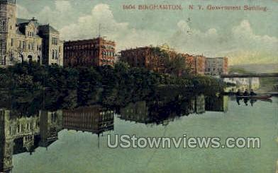 Government Bldg - Binghamton, New York NY Postcard