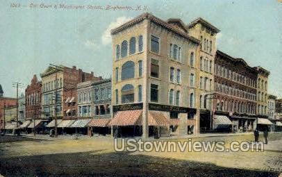 Washington Street - Binghamton, New York NY Postcard