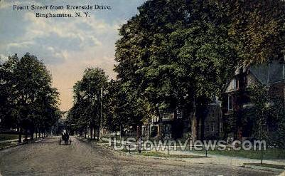 Riverside Drive - Binghamton, New York NY Postcard