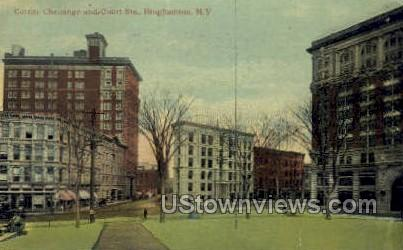 Corner Chenango - Binghamton, New York NY Postcard