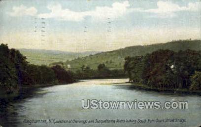 Junction of Chenango - Binghamton, New York NY Postcard