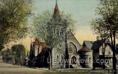 Trinity Memorial Church - Binghamton, New York NY Postcard