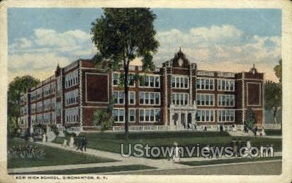 New High School - Binghamton, New York NY Postcard