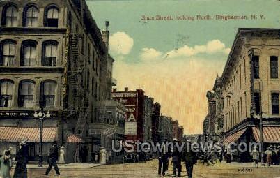 State Street - Binghamton, New York NY Postcard