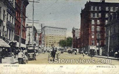 Court Street - Binghamton, New York NY Postcard