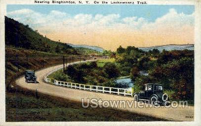 Lackawanna Trail - Binghamton, New York NY Postcard
