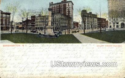 Court House Square - Binghamton, New York NY Postcard
