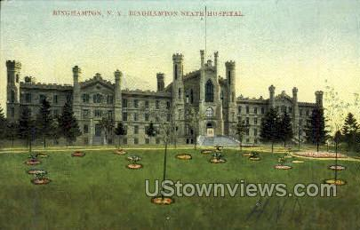 Binghamton State Hospital - New York NY Postcard