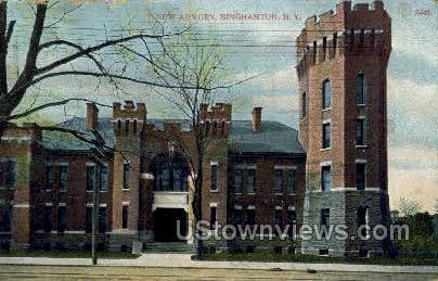 New Armory - Binghamton, New York NY Postcard