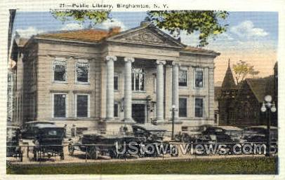 Public Library - Binghamton, New York NY Postcard