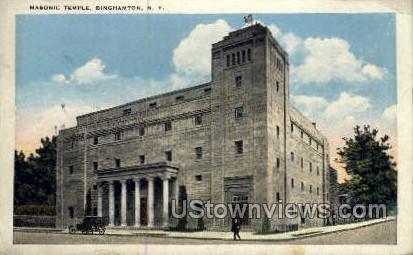 Masonic Temple - Binghamton, New York NY Postcard