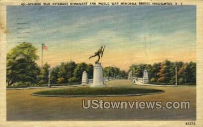 Spanish War Monument - Binghamton, New York NY Postcard